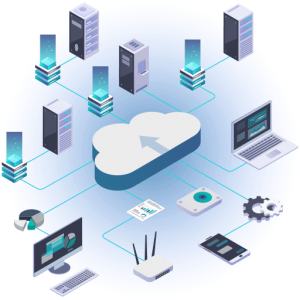 cloud linking computers, phones, business best web hosting in 2020