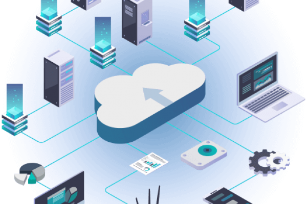 cloud linking computers, phones, business best web hosting in 2020