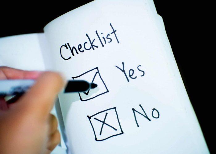 Checklist of website design considerations